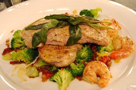 Pork Chop With Shrimp