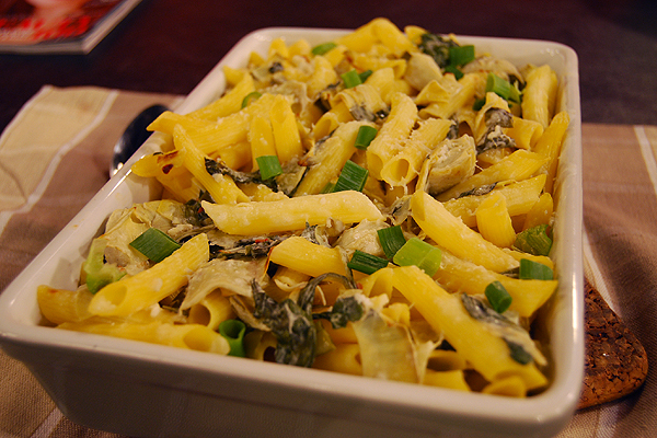 Creamy spinach and artichoke baked pasta cityline for Creamy spinach pasta bake