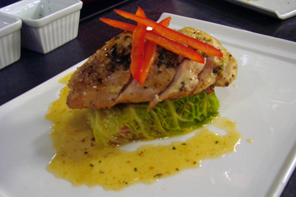 Tarragon Roasted Chicken Breast with Quinoa and Cabbage Roll ...