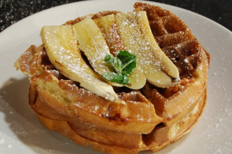 Smoky Bacon Belgian Waffles with Nutella and Caramelized ...