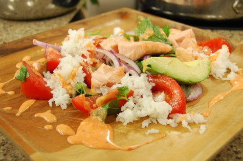 Poached Salmon with Avocado Salad and Coconut Rice | Cityline