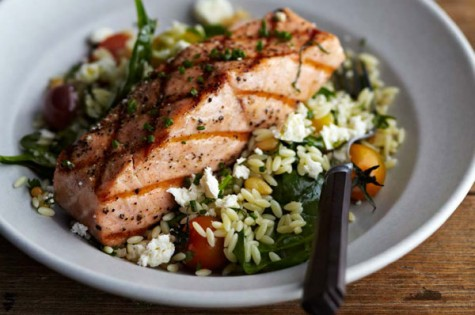 Grilled-Salmon-with-Orzo