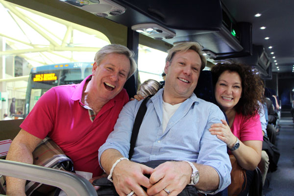 Kirk Brierley, Derek Selby, and director Candy Signorini are on their way!