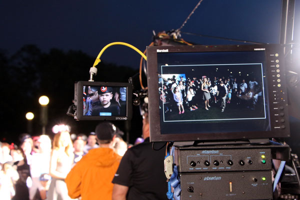 Filming in the dark
