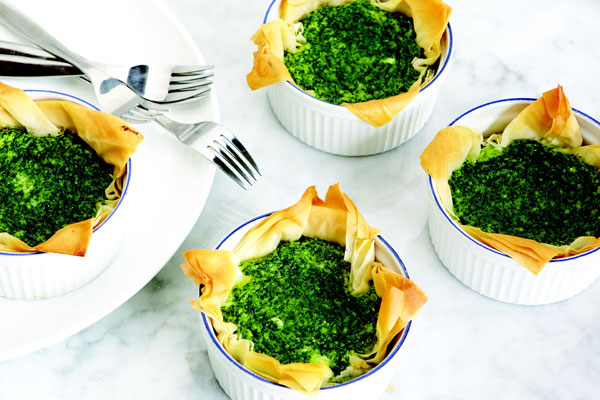 Mini kale and parmesan quiche with phyllo pastry crust | Cityline