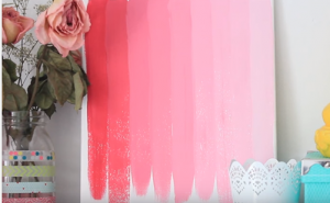 Ombre painting on display