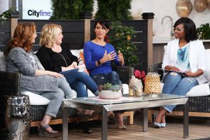 cityline host tracy moore with danielle nicholas bryk sharon grech and leigh-ann allaire perrault