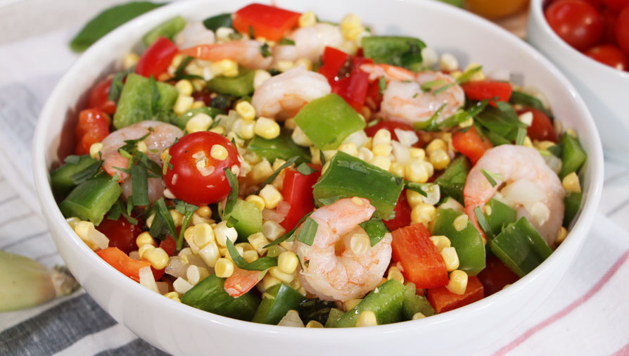 Herbed Sweet Corn And Tomato Salad Recipe — Dishmaps