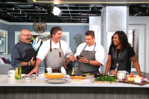 Cityline host Tracy Moore and three chefs