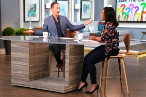 Cityline host Tracy Moore and Bruce Sellery