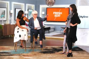 Cityline host Tracy Moore and 2 models