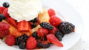 marinated berries