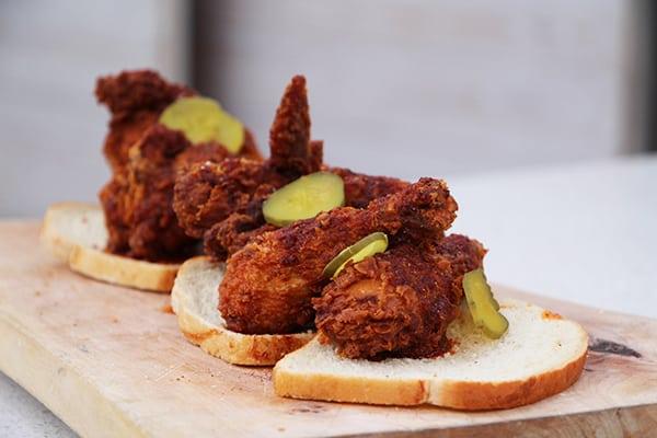 Finger lickin' Nashville hot chicken