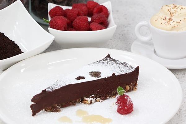Hazelnut espresso dark chocolate torte - Cityline