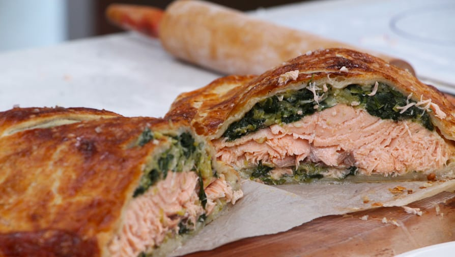 A show-stopping salmon wellington