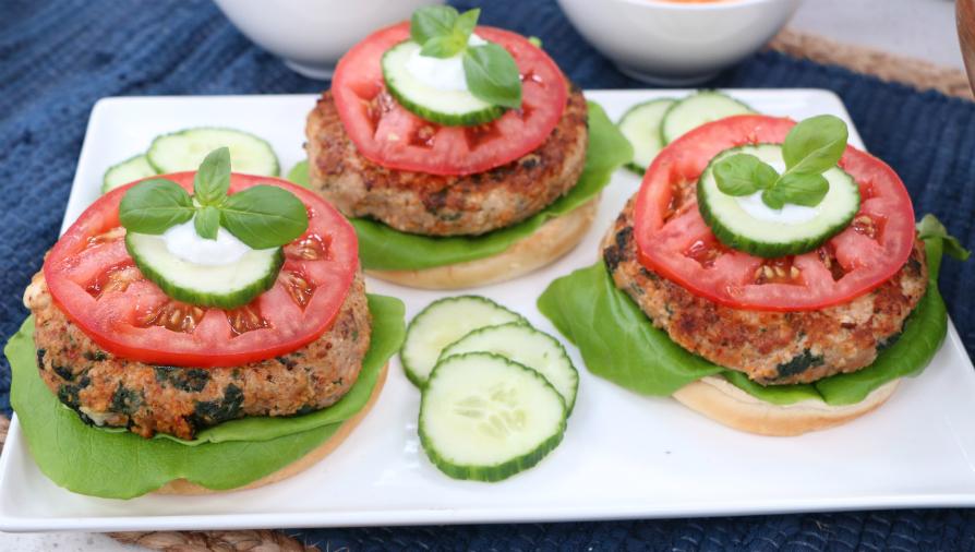 Gluten-free Mediterranean turkey burgers - Cityline