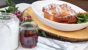 Apple and cheddar French toast by chef Stefano