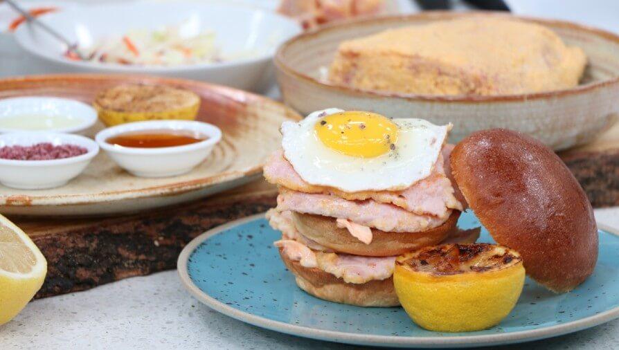 BBQ Roasted Peameal Bacon Sandwich Stack - Cityline
