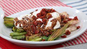 grilled leeks with vinaigrette july 3 ricardo