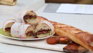 Prosciutto, Arugula, Pesto, Buffalo Mozzarella, Heirloom Tomato, Fig, Chutney Picnic Sandwich