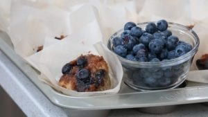 Cinnamon, Banana, Blueberry & Walnut Muffins with Streusel Topping