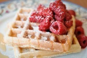 Fruit and fibre waffles