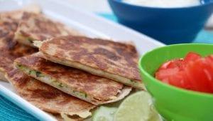 Zucchini-Cheddar Quesadillas