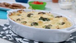 cheddar broccoli and gnocchi casserole