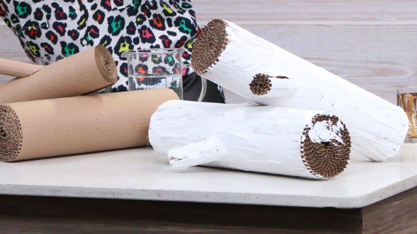 DIY Faux Cardboard Logs - Cityline