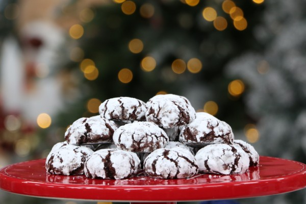 Chocolate pepermint crinkles