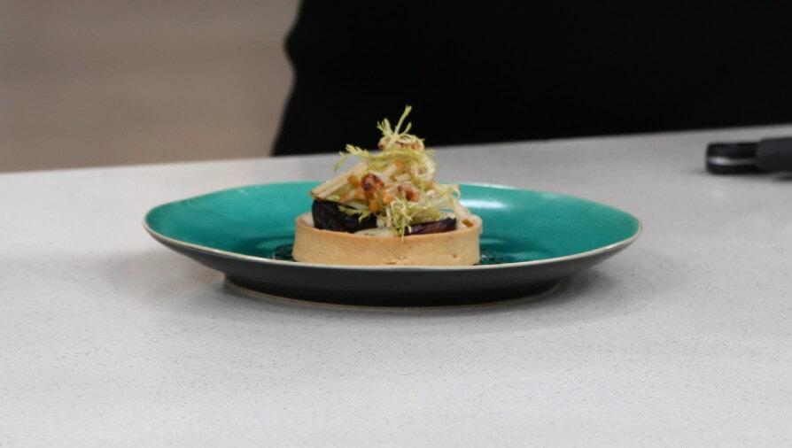 Cabernet fig, eggplant caviar and blue cheese tart - Cityline