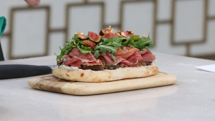 Open-face fig and prosciutto dinner panino - Cityline