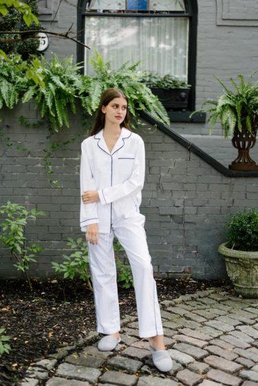 Premium Cotton Pajama Set In Monochrome