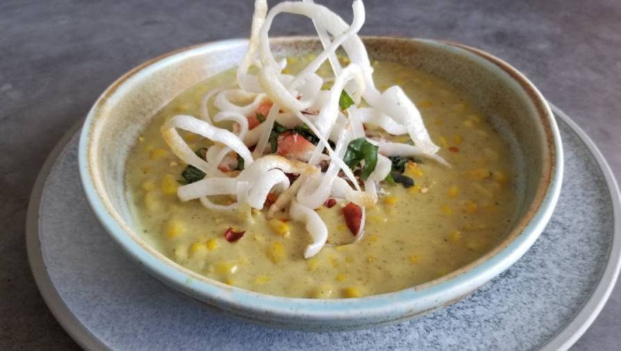 Thai curry corn and crab chowder - Cityline