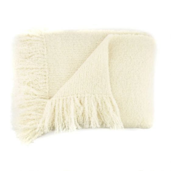 Boucle Alpaca Ivory Throw